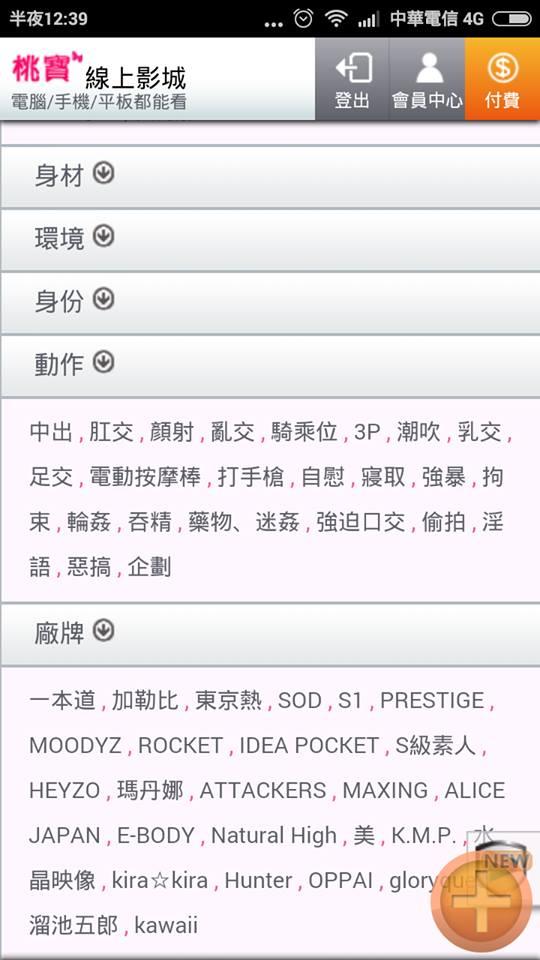 桃寶線上AV影城 手機板 AV分類
